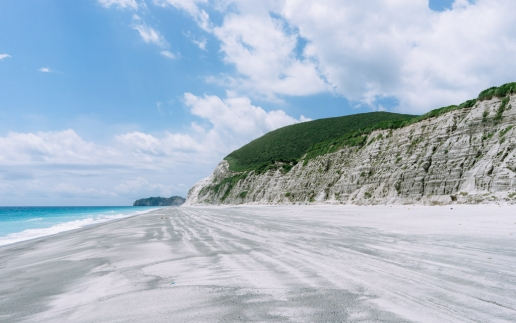 Beautiful beach of Tokyo's Surf Island, Niijima of Izu Seven Islands