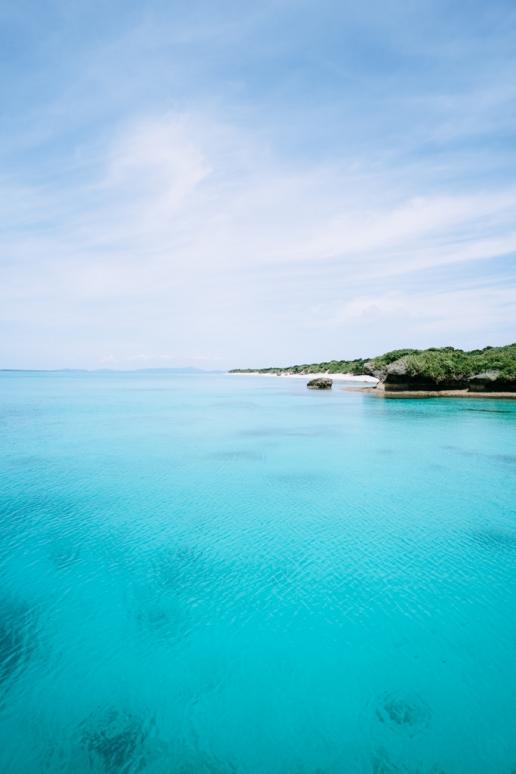 Tropical turquoise water of southern Japan, Yaeyama Islands, Okinawa