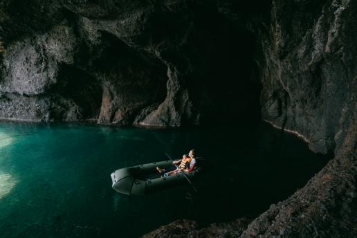 Sea cave adventure, Sado Island, Niigata, Japan