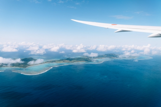 Aerial view of Ishigaki Island, Tropical Japan
