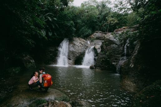 Iriomote waterfall hiking, Okinawa, Japan