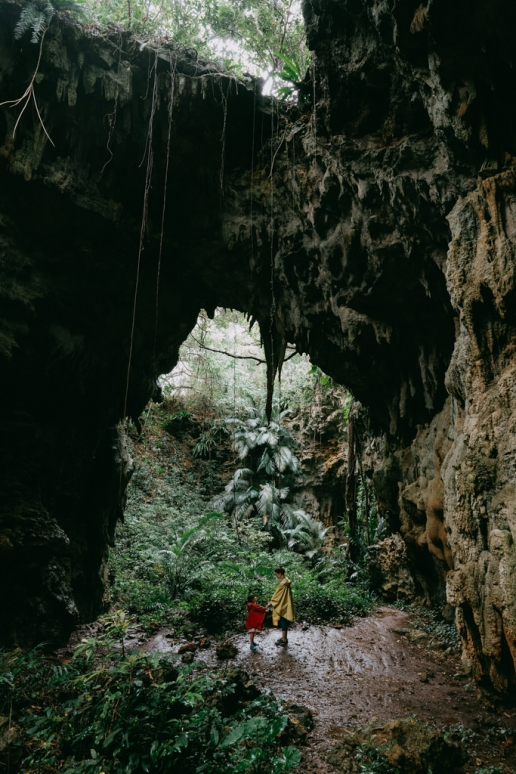 Jungle cave in southern Japan, Kume Island, Okinawa