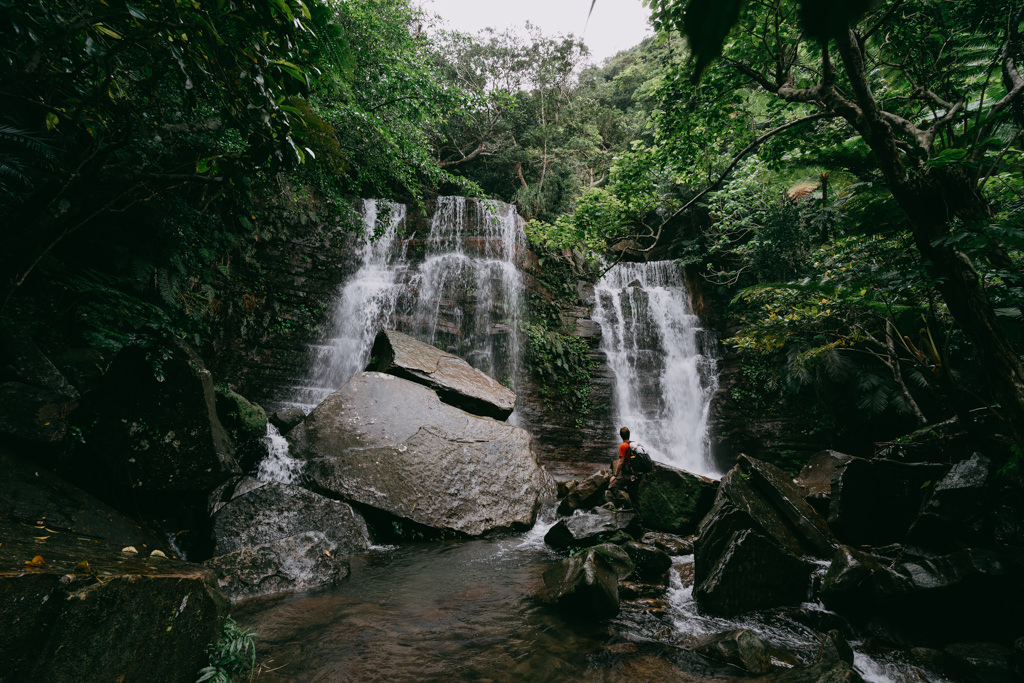 Iriomote jungle waterfall trekking, Japan