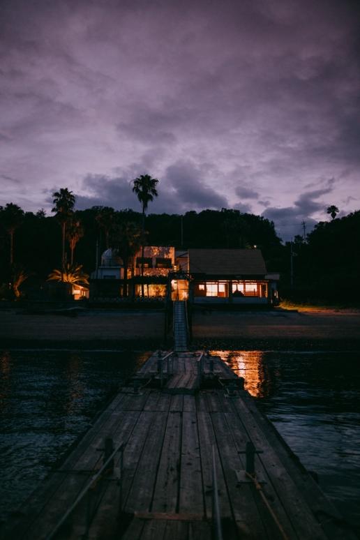 Santora at night, Manabeshima Island, Okayama, Japan