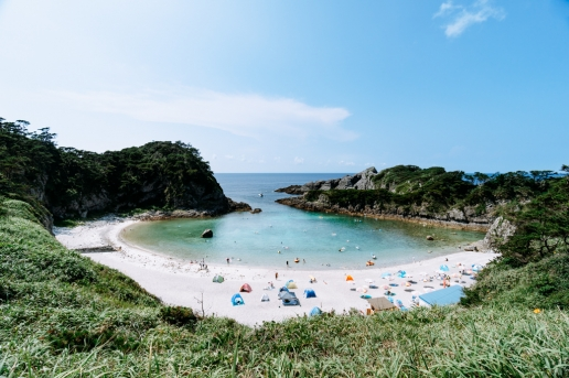 Beautiful beach of Shikine-jima Island, Tokyo