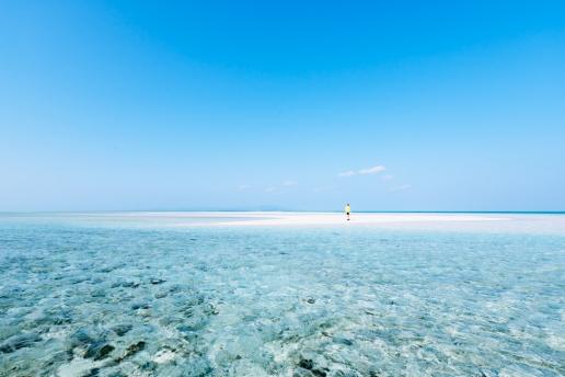 Tropical island paradise of southern Japan, Kondoi Beach, Taketomi Island, Okinawa