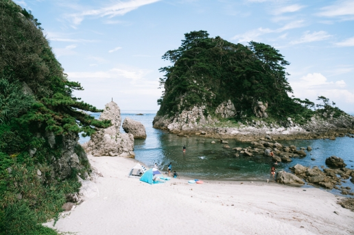 Beautiful coastline of Shikine-jima of Ize Seven Islands, Tokyo