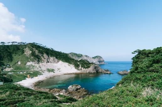 Beautiful coastline of Tokyo island, Shikine-jima
