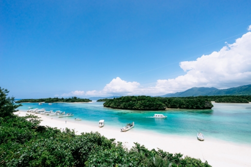 Tropical paradise of Japan, Kabira Bay on Ishigaki Island of Yaeyama Islands, Okinawa