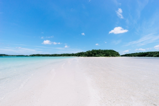 Deserted tropical Japanese beach, Ishigaki Island, Okinawa