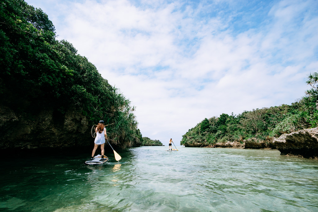 Stand up paddle boarding, Ishigaki, Japan