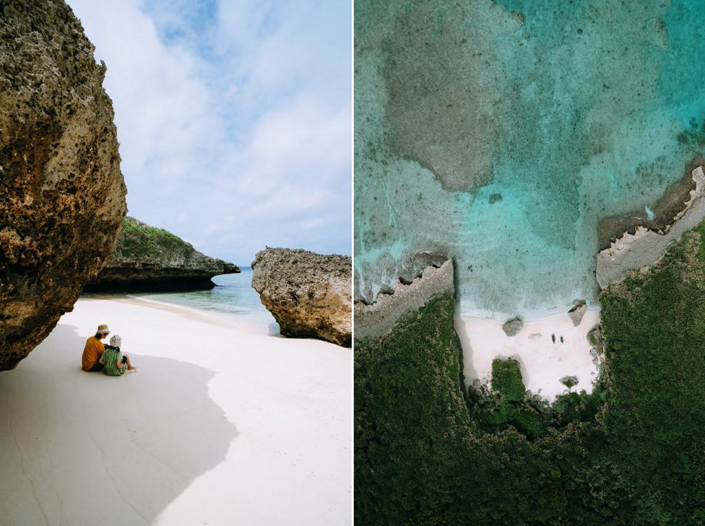 Deserted tropical beach, Miyako Island, Okinawa, Japan