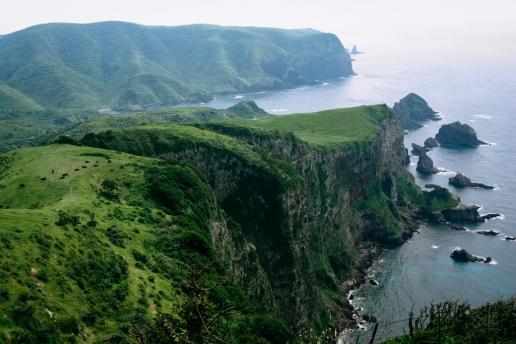 Scenic landscape of Oki Islands Unesco Global Geopark, Shimane, Japan