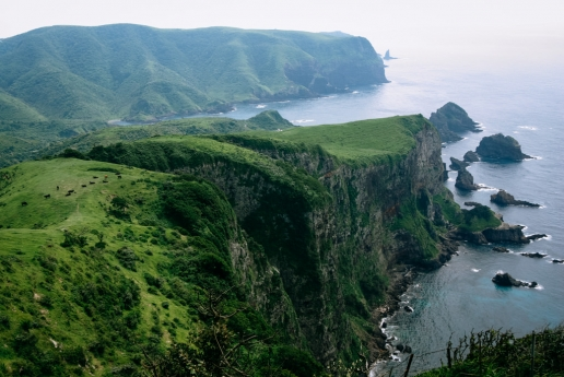 Scenic landscape of Oki Islands Unesco Global Geopark, Shimane, Japan