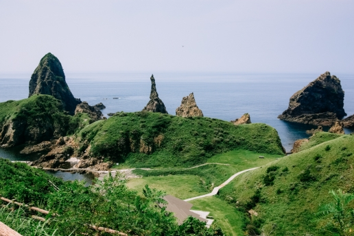 Pointy rocks of Nishinoshima Island of the Oki Islands, Shimane, Japan
