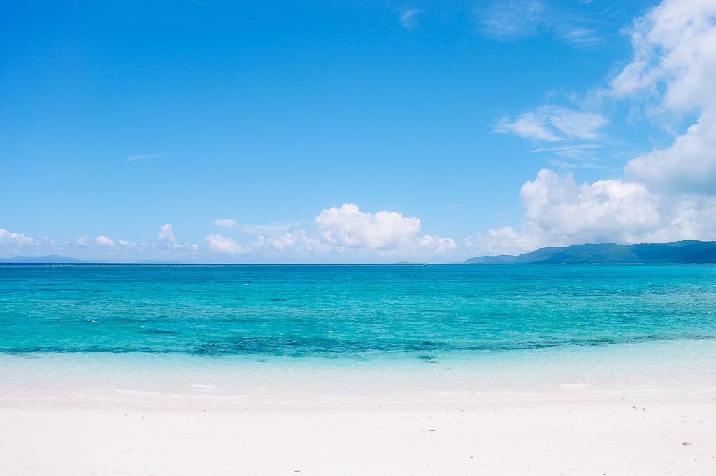 Scenic tropical beach of Japan, Yaeyama Islands, Okinawa