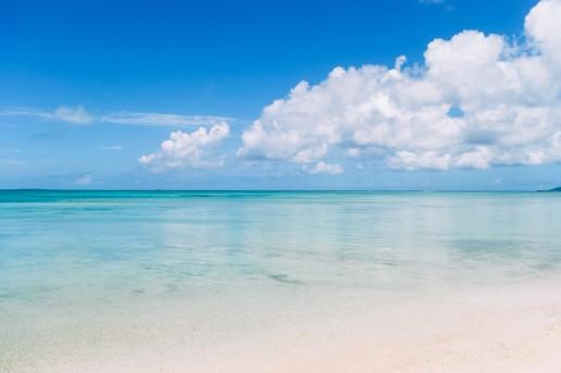 Idyllic tropical water of southern Japan, Kondoi beach, Taketomi Island, Okinawa