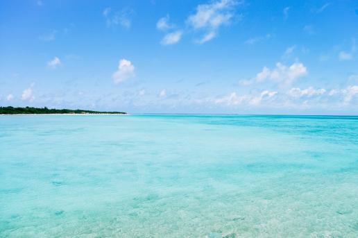 Clear tropical water of southern Japan, Taketomi of Yaeyama Islands, Okinawa