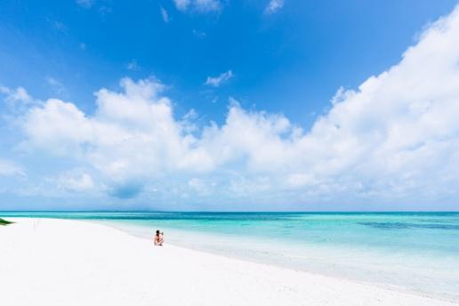 Beautiful Kondoi Beach on Taketomi, Yaeyama Islands, Okinawa, Japan