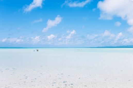 Kondoi beach, Taketomi Island of the Yaeyama Islands, Okinawa, Tropical Japan