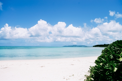 Kondoi beach and clear tropical sea, Taketomi Island, Okinawa, Japan