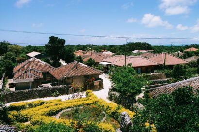 Traditional village of southern Japan, Taketomi Island, Okinawa