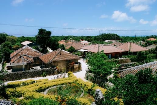 Traditional village of southern Japan, Taketomi Island, Okinawa