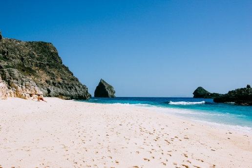 White sand tropical beach of remote Tokyo, Chichijima of the Ogasawara Islands, Japan