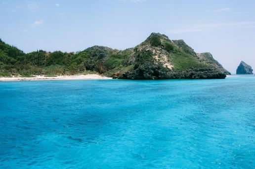 Clear blue lagoon of Ogasawara Unesco World Natural Heritage, Tropical Japan