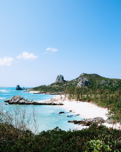 Tropical Japan's beautiful coastline, Izena Island, Okinawa, Japan