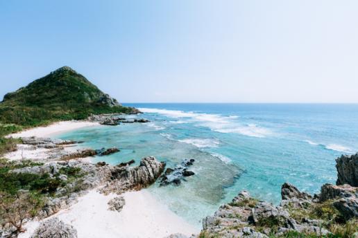 Deserted tropical beach of Izena Island, Okinawa