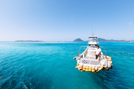Deserted island hopping in Okinawa, Japan