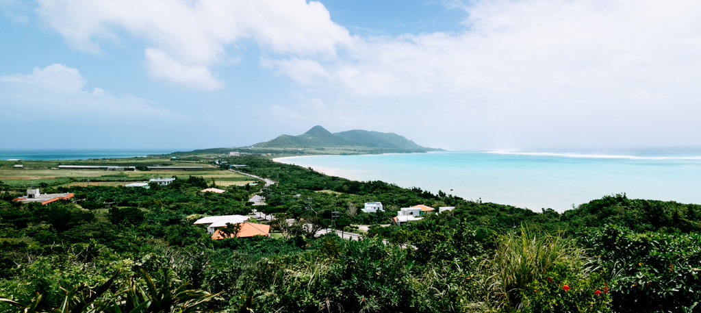 Typhoon waves hitting reefs of Ishigaki Island, Tropical Japan