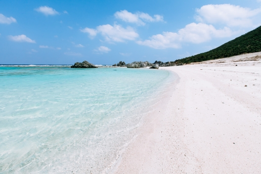 Clear tropical water beach of Iheya Island, Okinawa, Japan