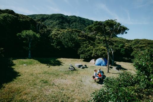 Camping on Niijima Island, Tokyo