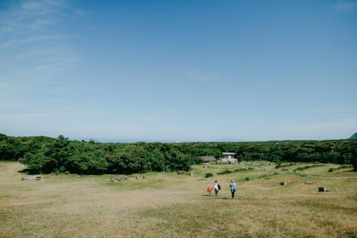 Free public camping site of Niijima Island, Tokyo