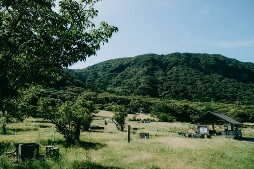 Beautiful public campsite of Niijima Island, Tokyo