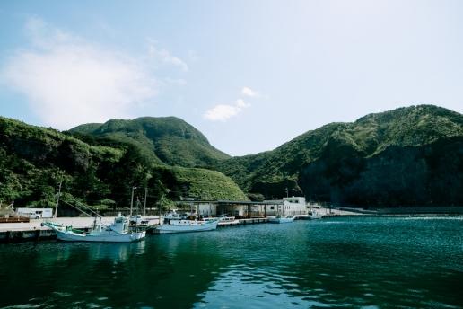 Fishing port of Niijima Island, Tokyo