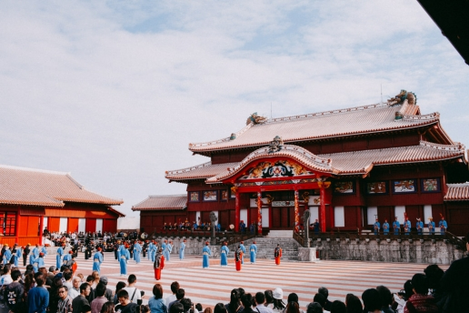 Shuri Castle on New Year's Day, Okinawa