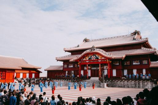 Shuri Castle on New Year's Day, Okinawa