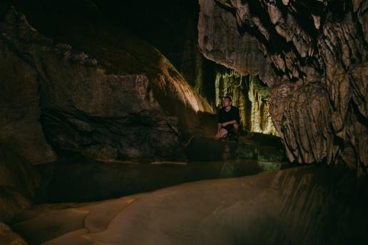 Boraga limestone cave adventure, Miyako-jima Island, Okinawa, Japan