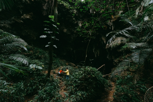 Jungle cave adventure, Iriomote Island, Okinawa, Japan