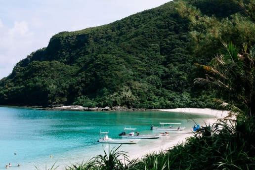 Scenic tropical beach of Tokashiki Island, Okinawa, Japan
