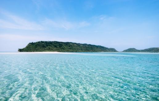 Cruising around tropical islands of Japan, Yaeyama Islands, Okinawa, Japan