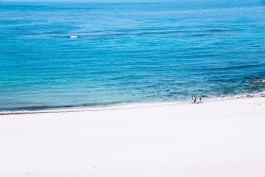 One of many beautiful beaches of Izu Seven Islands, Kozushima, Tokyo