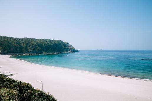 Beautiful beach on Kozushima Island of Tokyo