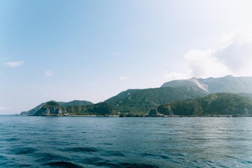 Kozu Island from ferry
