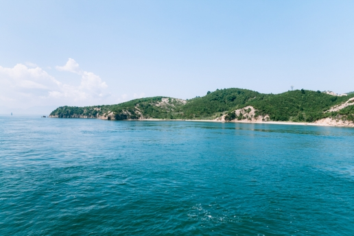 One of many beautiful islands in Seto Inland Sea, Japan