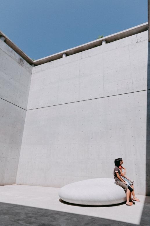 Ando Tadao concrete courtyard, Benesse House, Naoshima Island, Japan