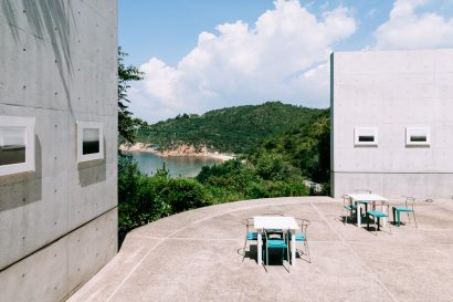 Beach view from Benesse House, Naoshima Island, Japan